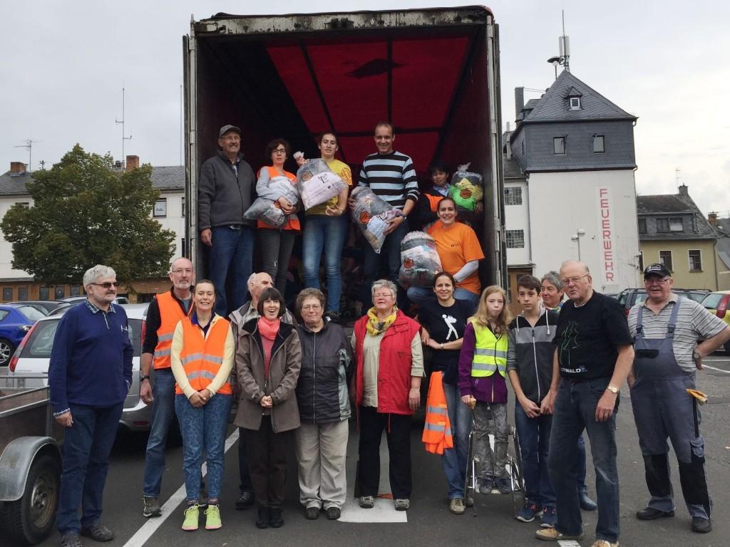Ein starkes Team: Die Helfer bei der Kolping-Kleidersammlung